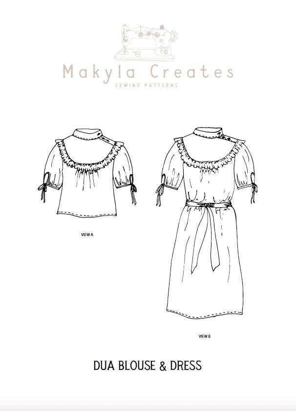 Dua dress and blouse sewing pattern