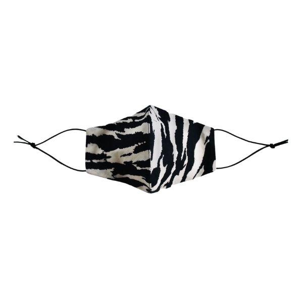 Face mask black/white zebra front view