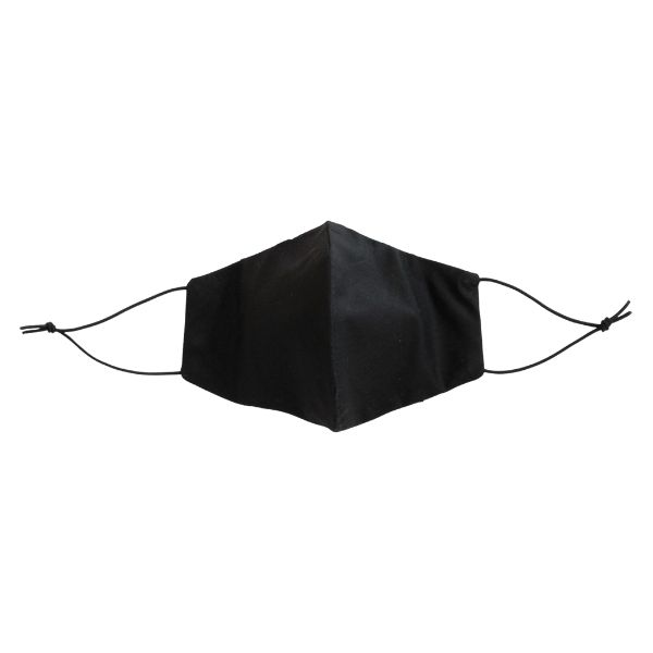 face mask black front view