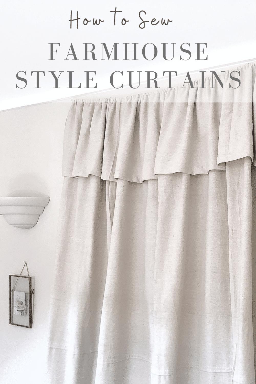 Farmhouse Inspired Curtains Pinterest
