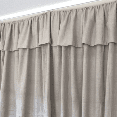 How to Make Farmhouse Inspired Curtains Using A Drop Cloth