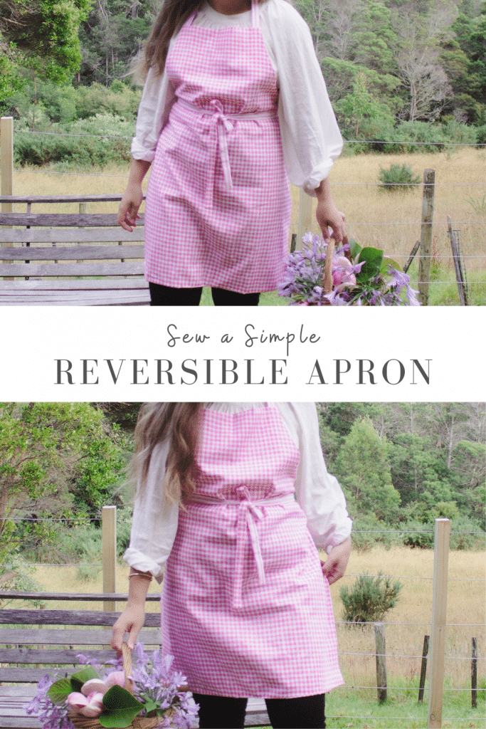 How to make a reversible apron step by step