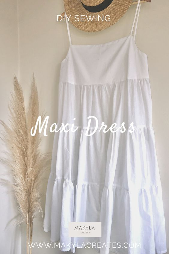how to make a tiered maxi dress pinterest pin