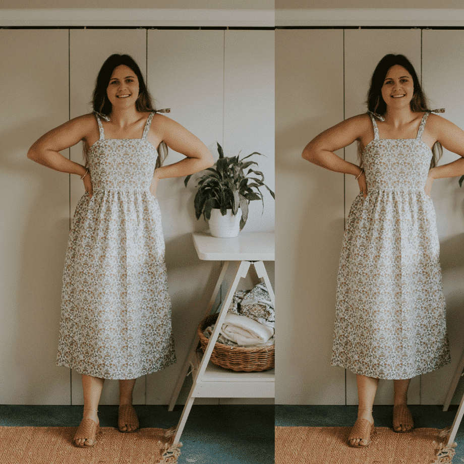 Chloe tiered maxi dress sewing pattern