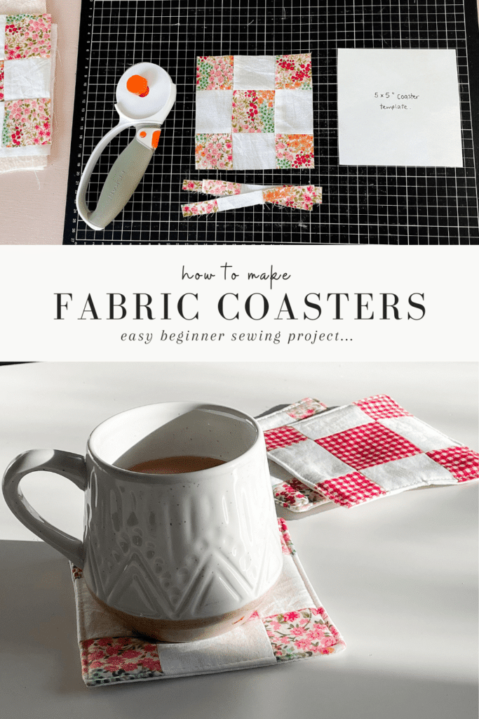 how to make coasters from fabric