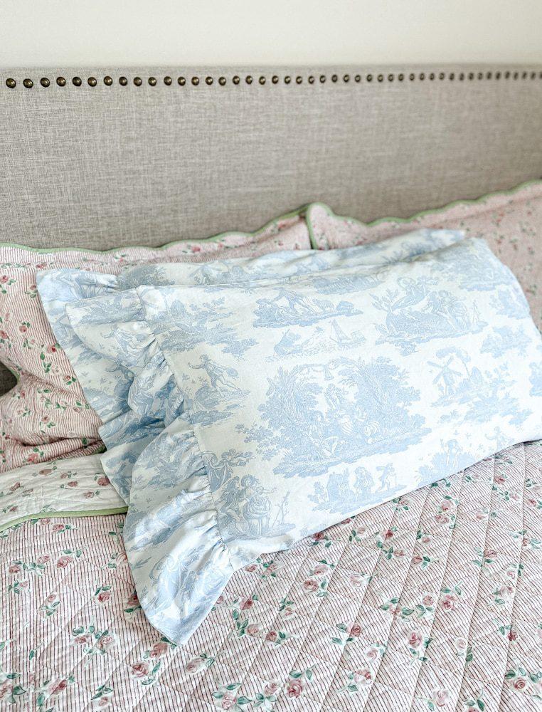 How a sew a pillowcase with ruffles