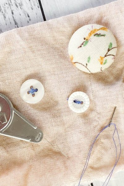 How to Sew a Button - 3 Button Types