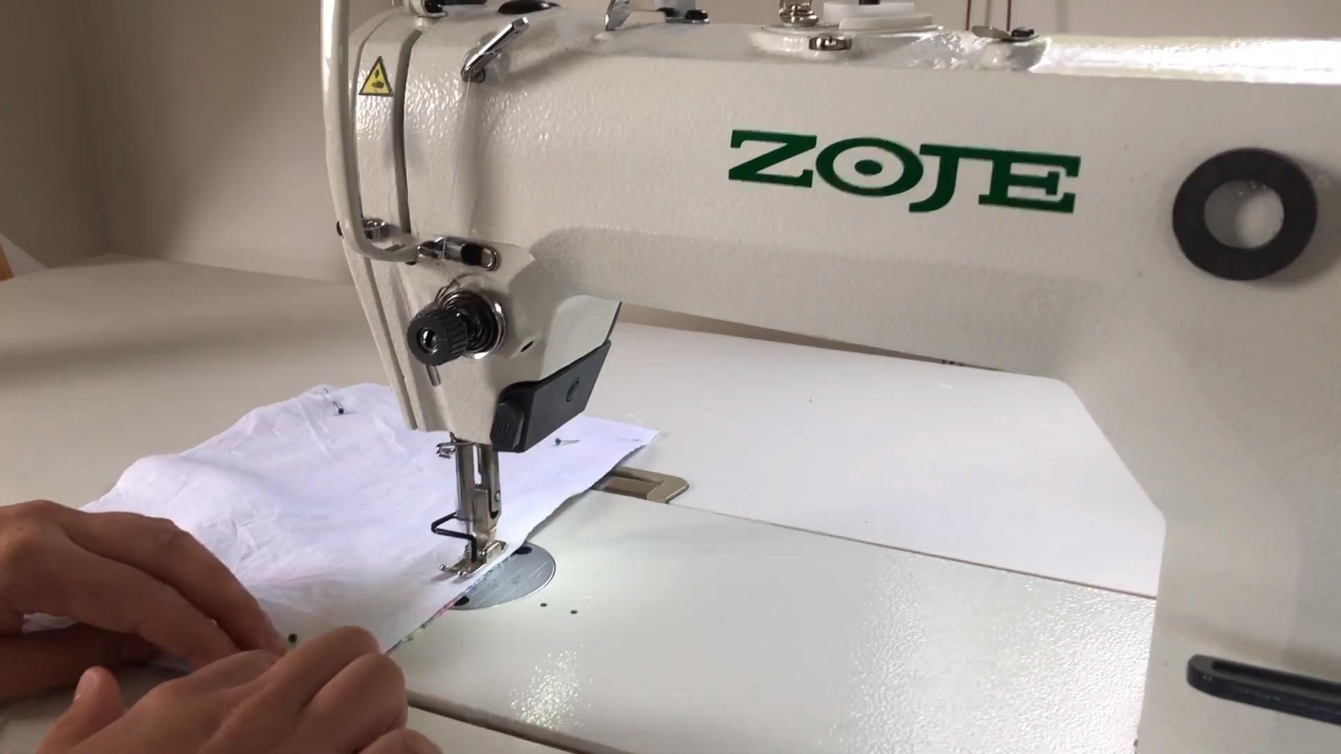 edge stitch around holder