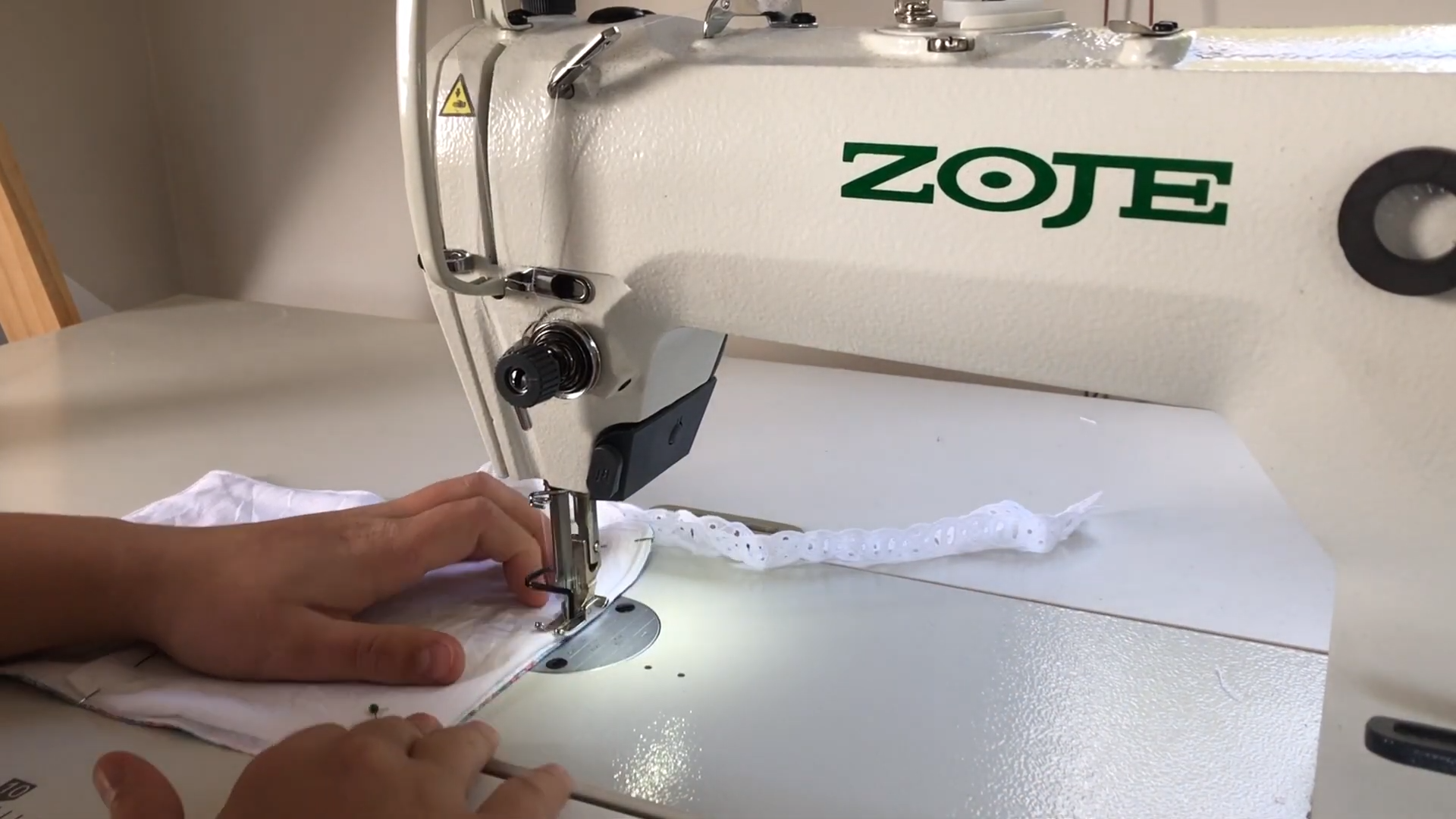sewing on pocket