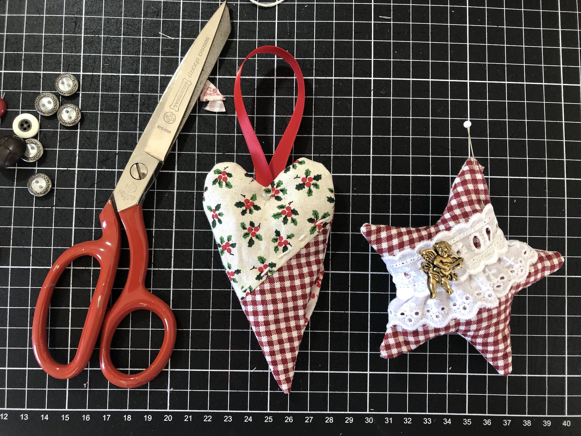 How To Make Christmas Decorations On A Budget close up of heart and star