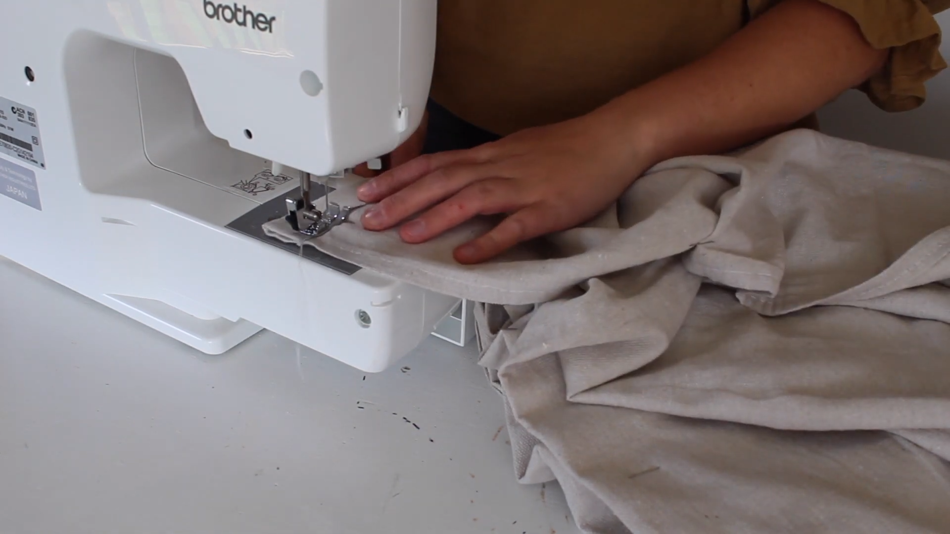 sewing ruffle hem