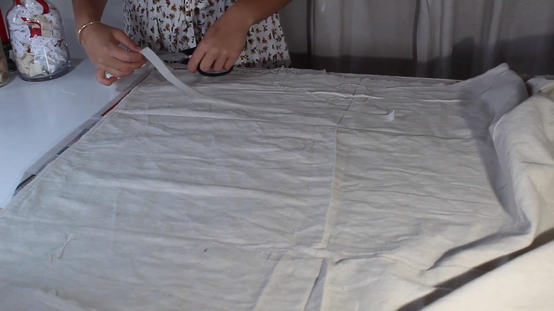 mask up grain sack fabric