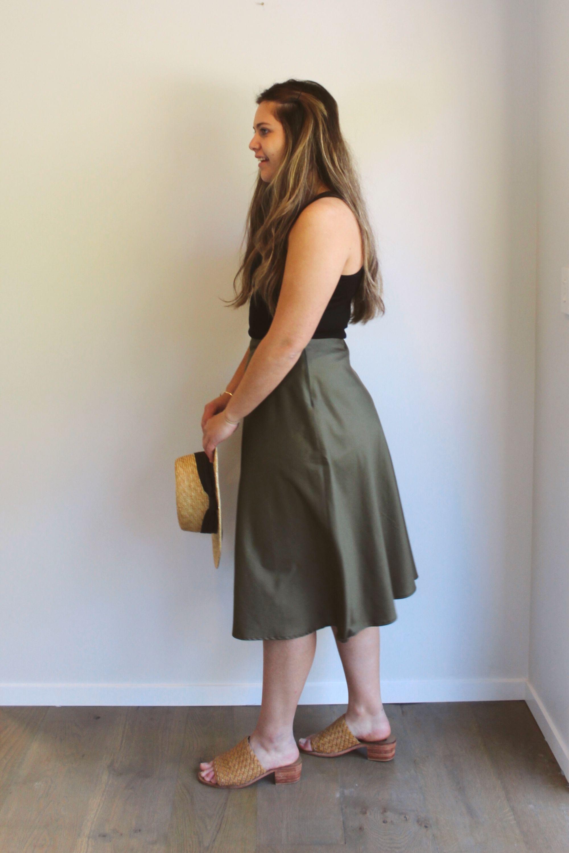 rachel bias skirt