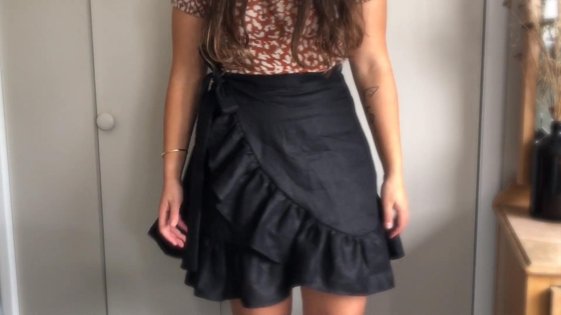 diy linen wrap skirt