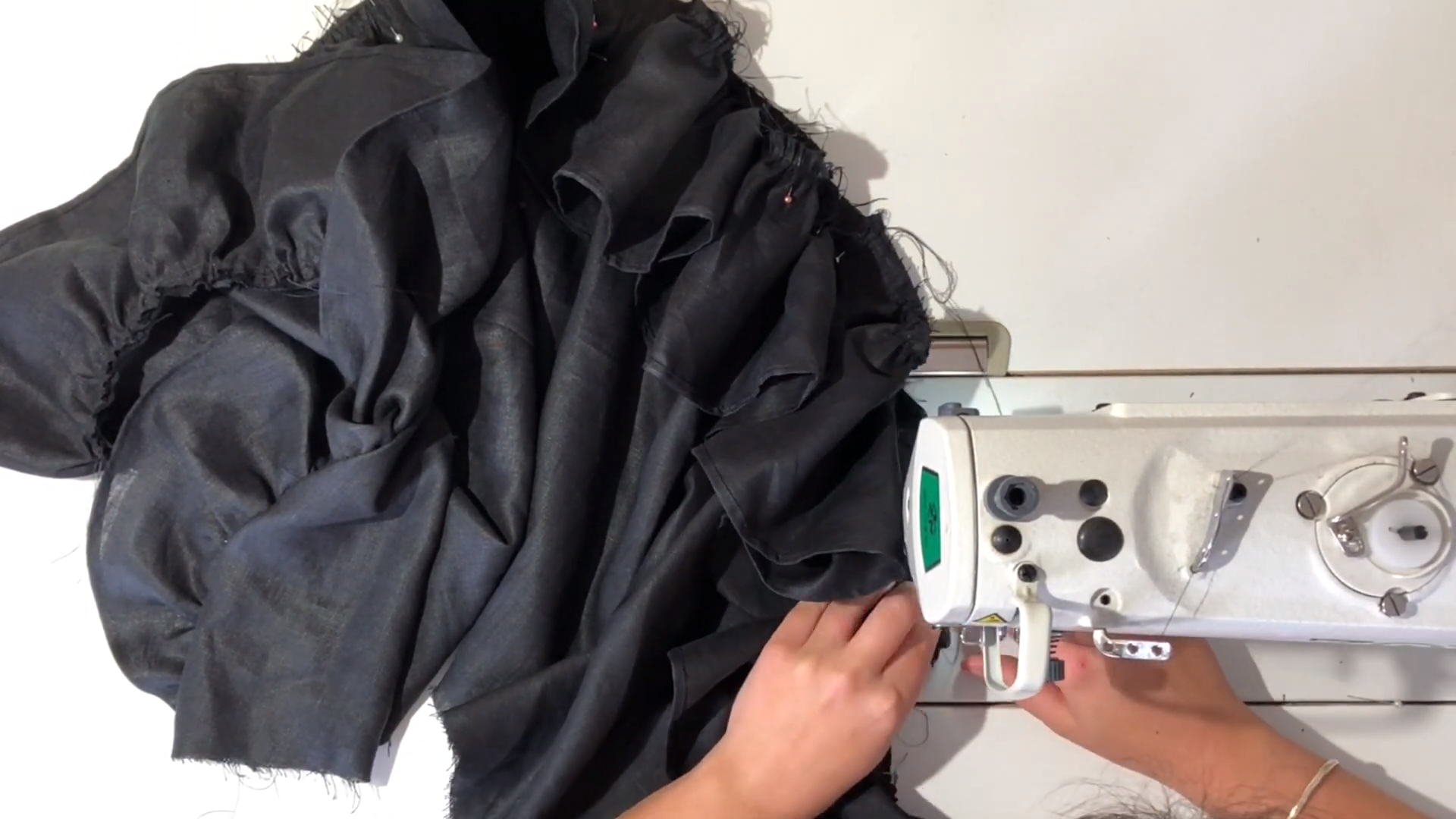 sewing ruffle to skirt