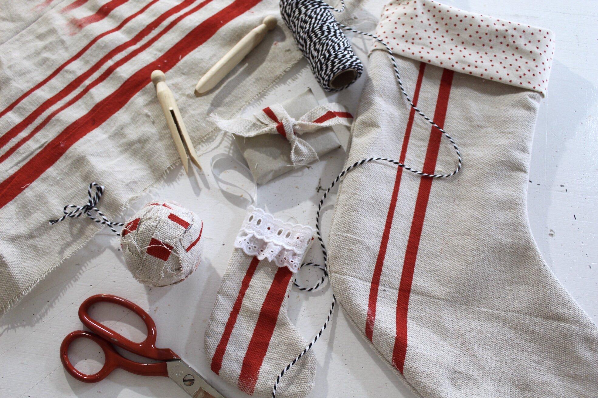 how to make grain sack fabric ideas